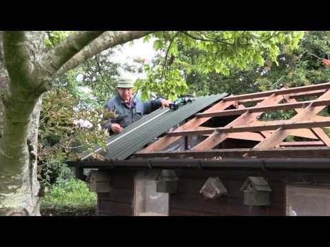 How To Re Roof A Shed With Onduline Corrugated Roofing Sheets Youtube Outdoor Sheds Corrugated Roofing Shed Building Plans