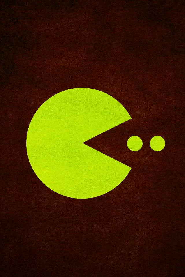 Perfect Pac Man IPhone Wallpaper