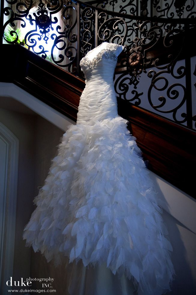 fabulous feather Ines Di Santo wedding dress