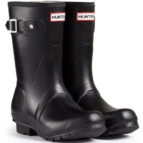 new arrival 701b9 502b8 Zapatos de hombre. Hunter Boots Original Short - Botas De Agua De Media  Caña Alta Unisex