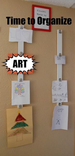 Time to Organize: Kids Art Wall