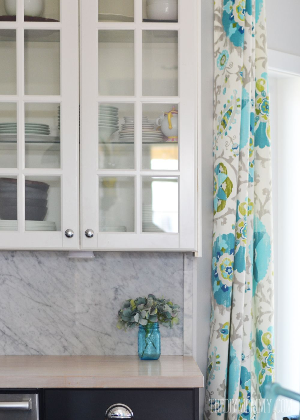 Where Did I Get My Teal Green Kitchen Curtains The Diy Mommy Marble Decoration