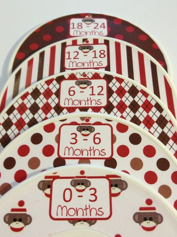 Pin by Paris on Sock Monkey* | Baby closet dividers, Baby ...