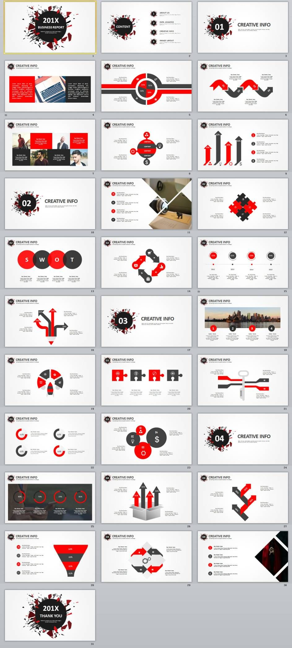 31+ best red black business design powerpoint templates | 12chart, Modern powerpoint