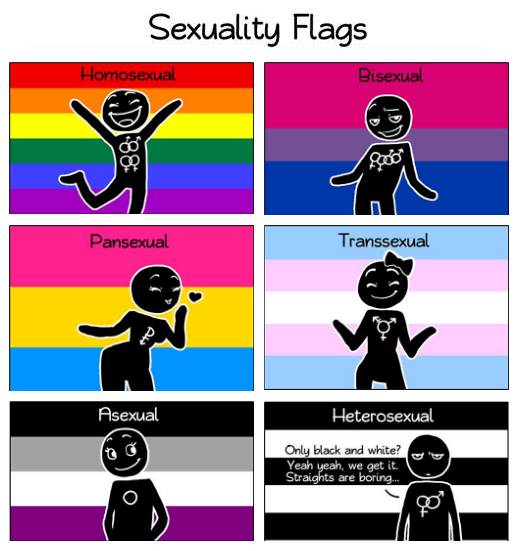 Sexuality flags humon