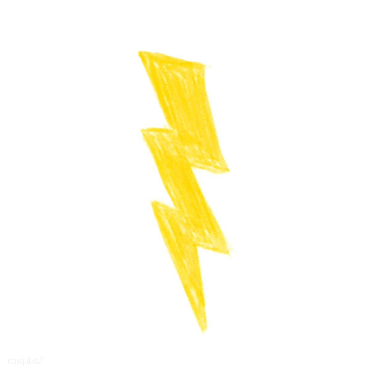 Illustration Of Hand Drawn Lightning Bolt Icon Isolated On White Background How To Draw Hands Lightning Bolt Brain Icon