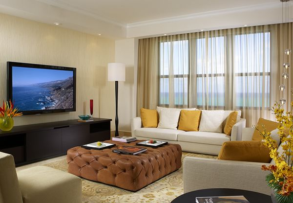 Modern Apartment Big Living Room Windows