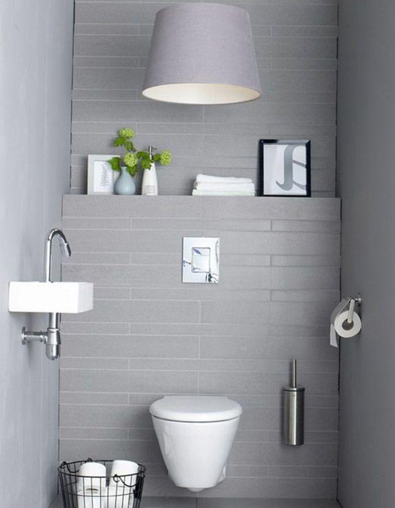Décorer ses toilettes en gris tendance | WC | Pinterest