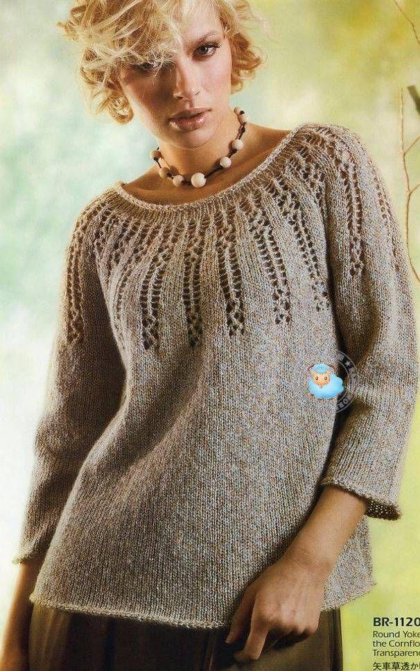 вязаниеспицыблузки топы пуловеры обсуждение на Liveinternet