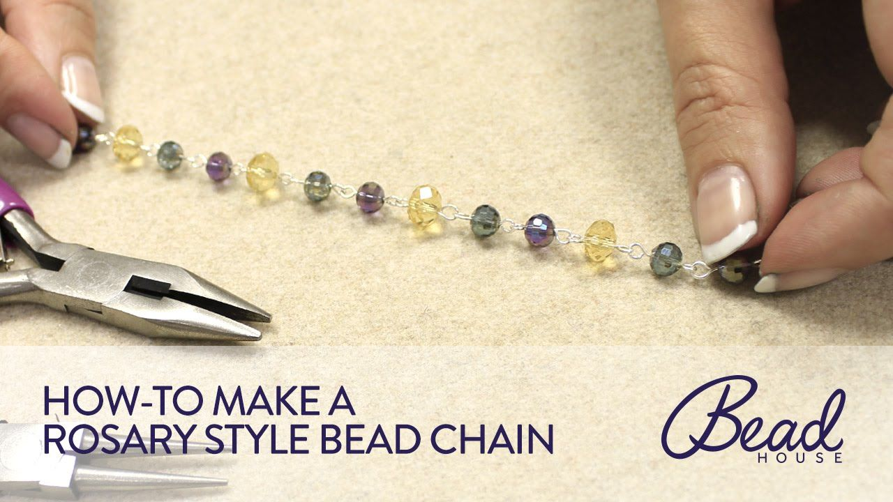 how to make a crystal necklace out of string