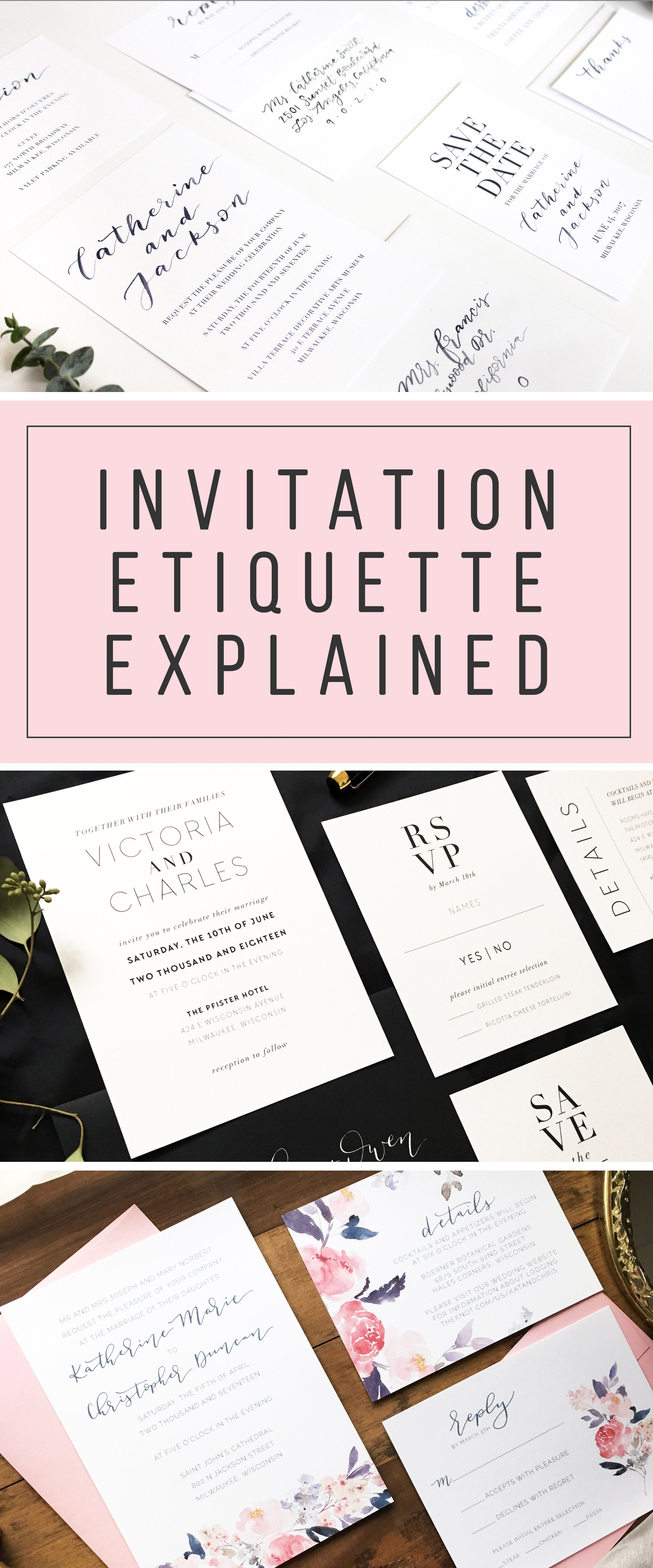 Invitation Etiquette Explained by Shelby Made It http