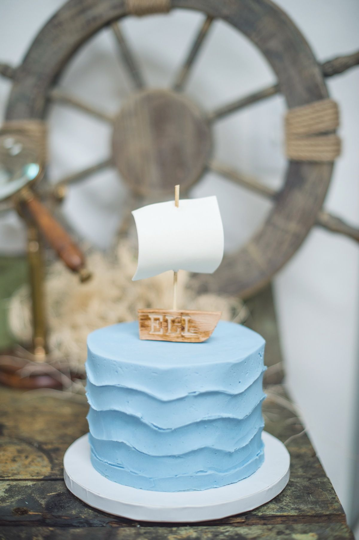 #sailboat, #nautical, #birthday-cake, #blue, #boys-party, #kids-party  Photography: Shalynne Imaging - shalynneimaging.com/ Event Design: Shannon Von Eschen - www.shalynneimaging.com