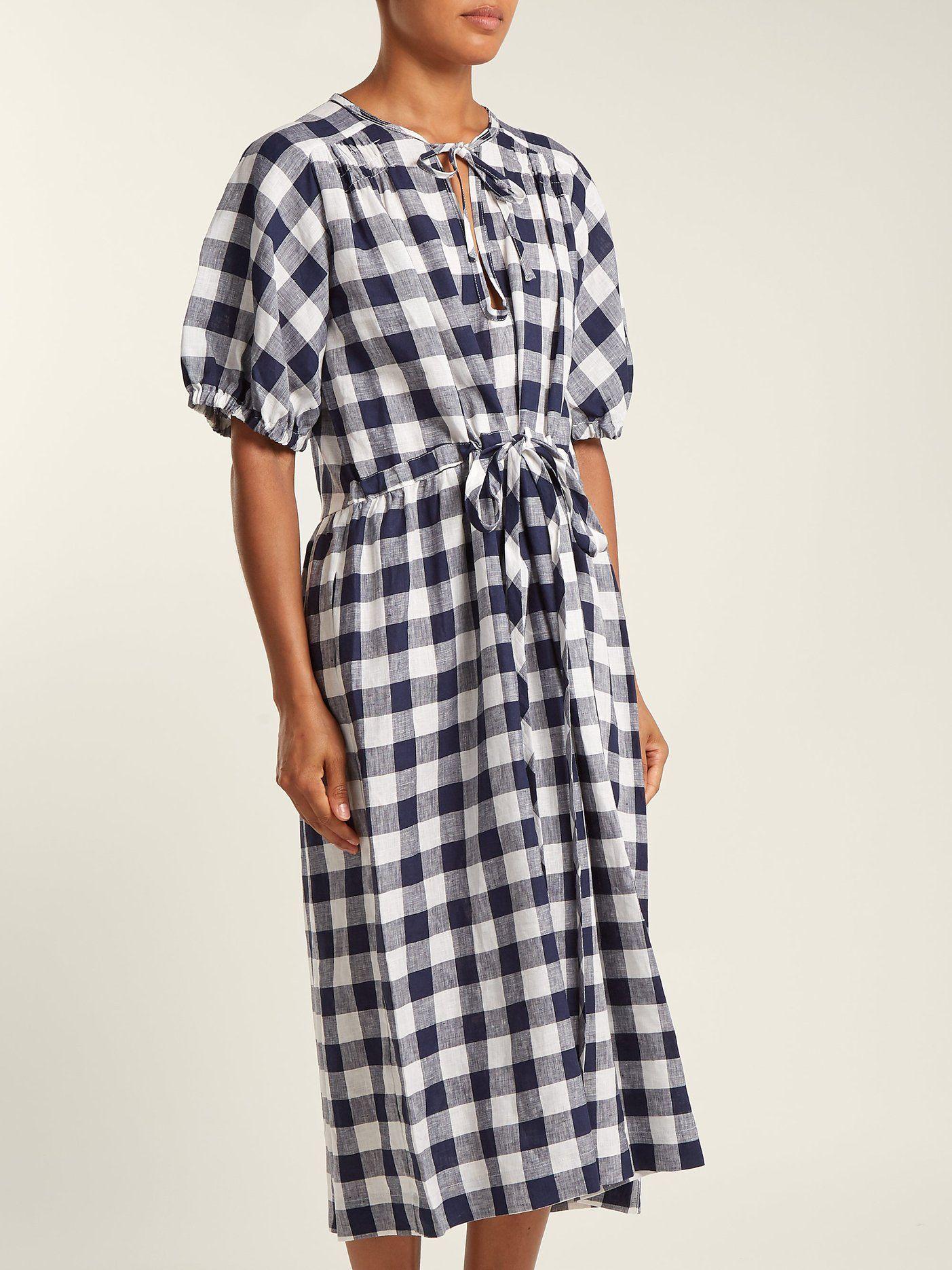c60c90f55cf Nellie gingham linen dress