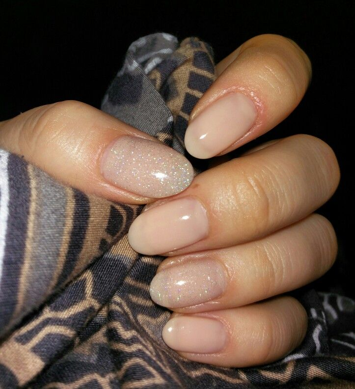CND Shellac - Powder my Nose with China Gelaze - Fairy Dust (made by Lili:)