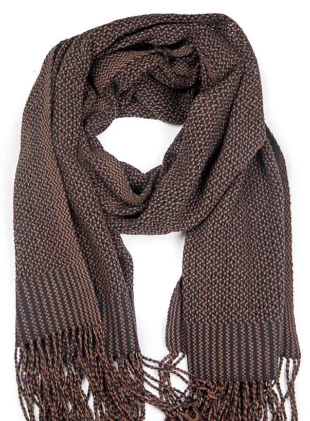 Harvest Cotton Scarf | Brown and Black