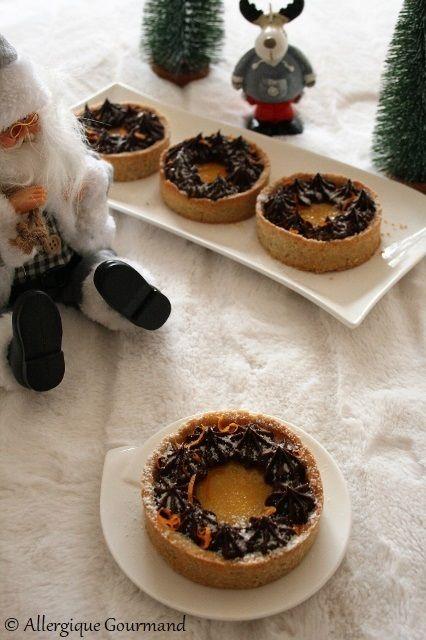 Tartelettes au curd de cl mentines et chocolat sans - Cuisinez gourmand sans gluten sans lait sans oeufs ...