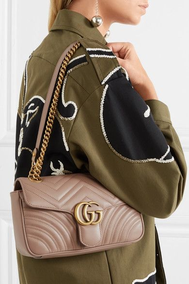 12e7694ca825 Gucci - Gg Marmont Small Quilted Leather Shoulder Bag - Beige in ...