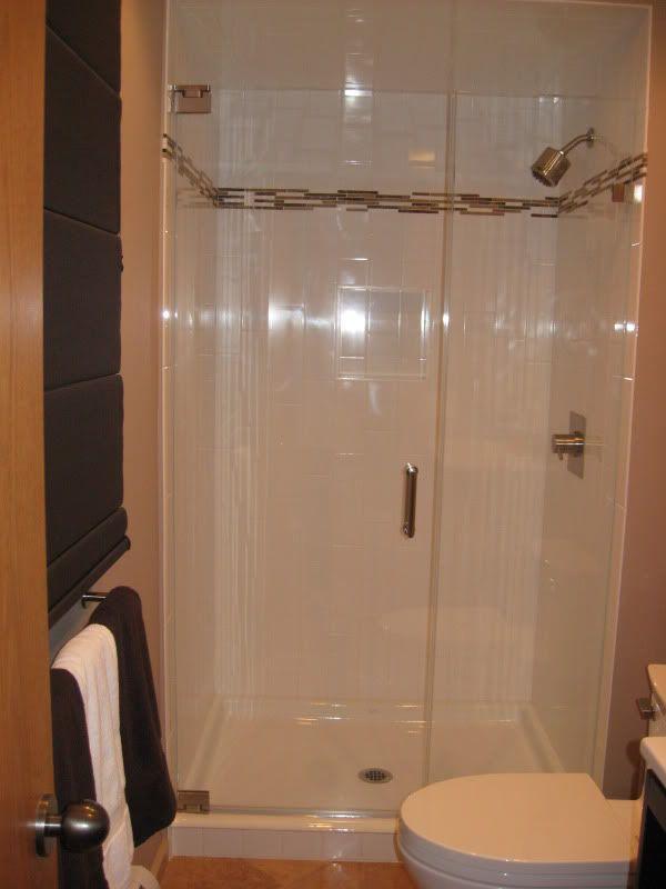 Cast iron shower receptor. Nicer than fiberglass, cheaper and more ...