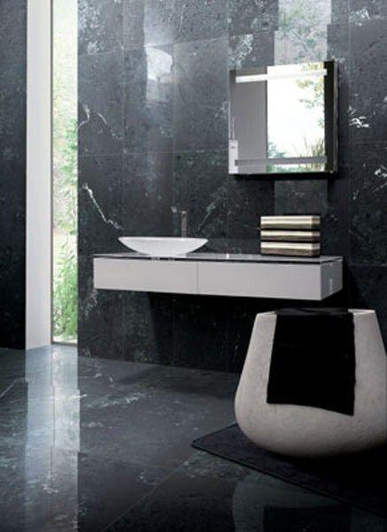 Pavimento/rivestimento in gres porcellanato effetto marmo NERO MARQUINA EXTREME - GranitiFiandre