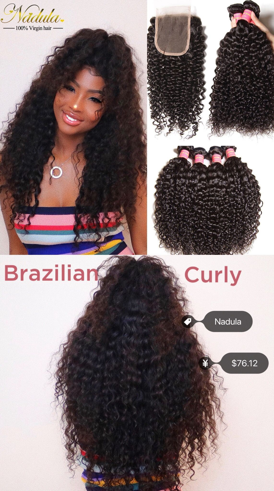 Want To Try This Fabulous Half Up Half Down Hairstyle Only 76 12 From Www Nadula Com Wig Installed Half Up Half Down Hair Curly Hair Styles Weave Hairstyles