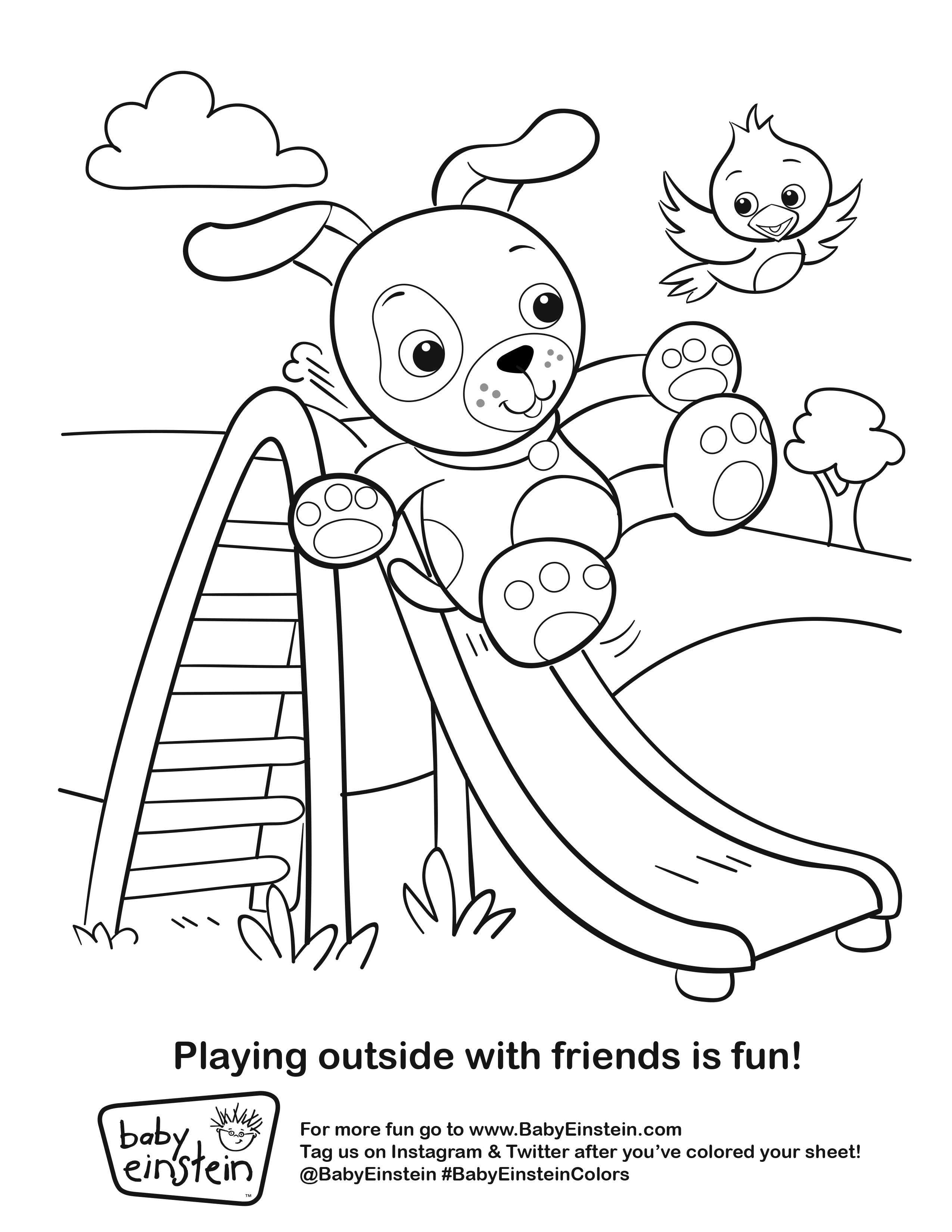 Summer Is Here Give Your Little Artist A Chance To Get Creative By Printing Out This Coloring Sheet Ba Baby Einstein Coloring Pages Coloring Pages For Kids