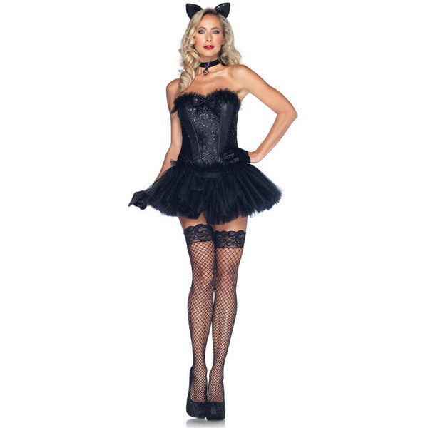 fashion black cat halloween costume for - Cat Outfit For Halloween
