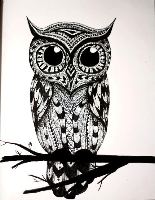 Untitled  Owl Eye and Tattoo