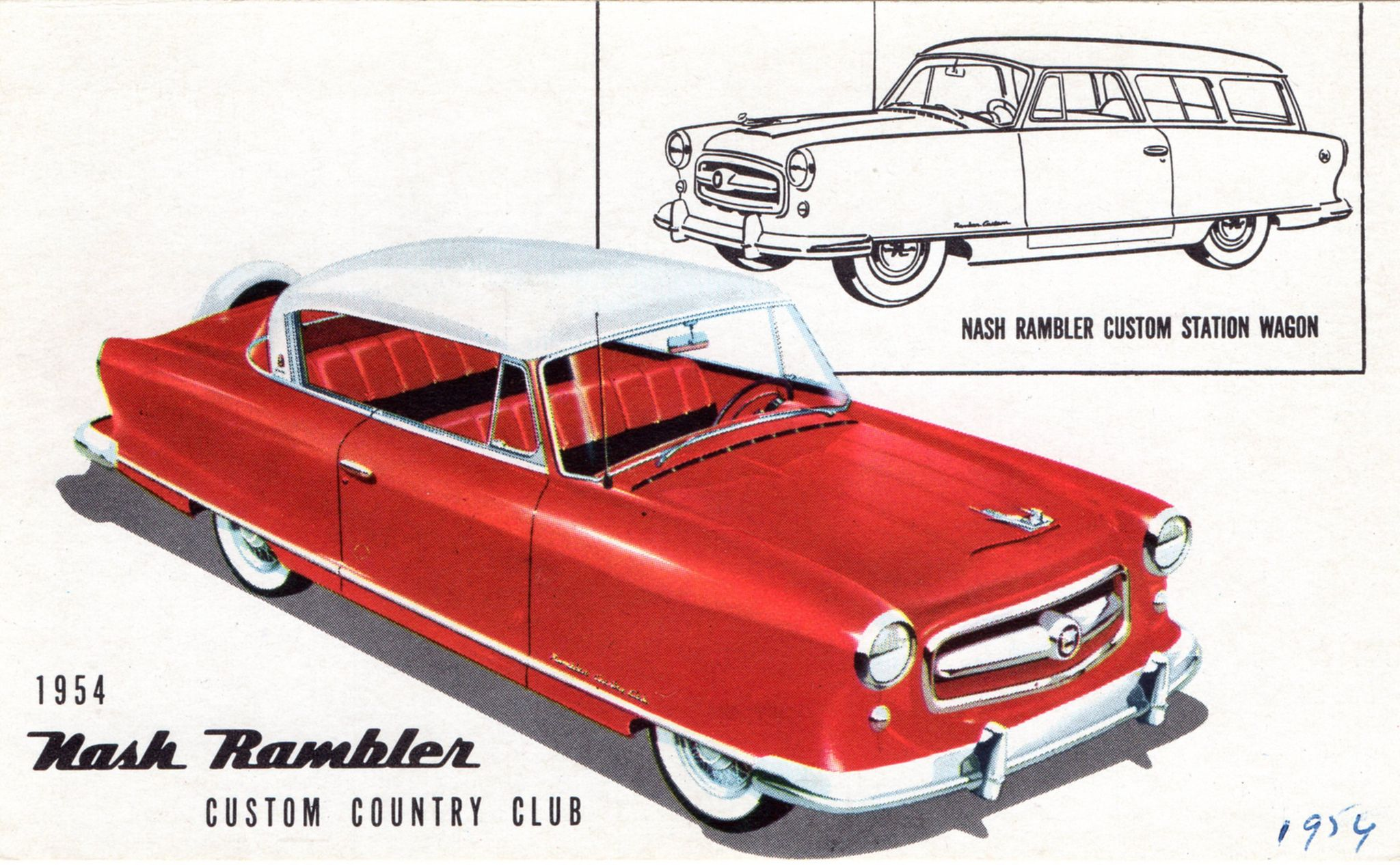 https://flic.kr/p/JB6A5i | 1954 Nash Rambler Country Club & Station Wagon