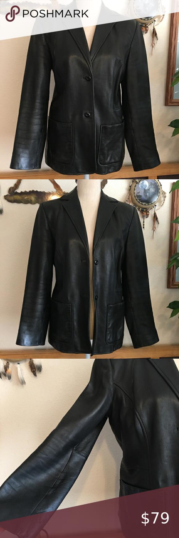 Vintage Classiques Entier Soft Leather Jacket Vintage Classiques Entier Soft Black Genuine Leathe Vintage Leather Jacket Genuine Leather Jackets Clothes Design