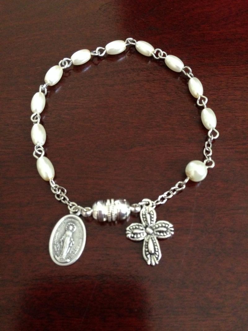 Freshwater pearl rosary bracelet rosary pinterest rosary