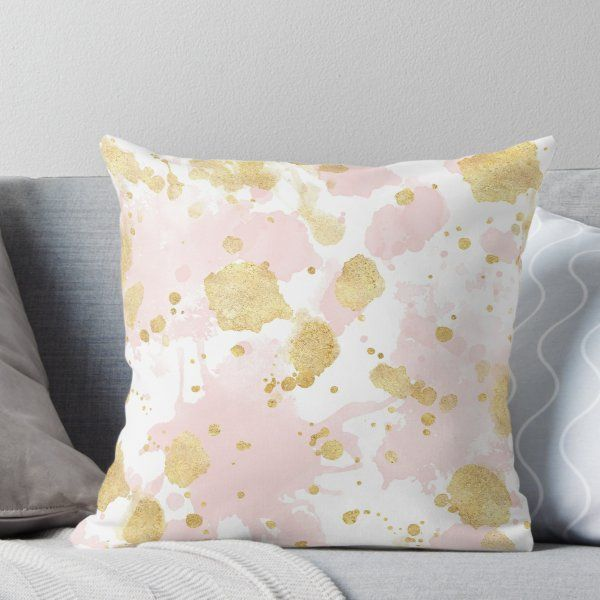 abstract throw pillow cover blush pink