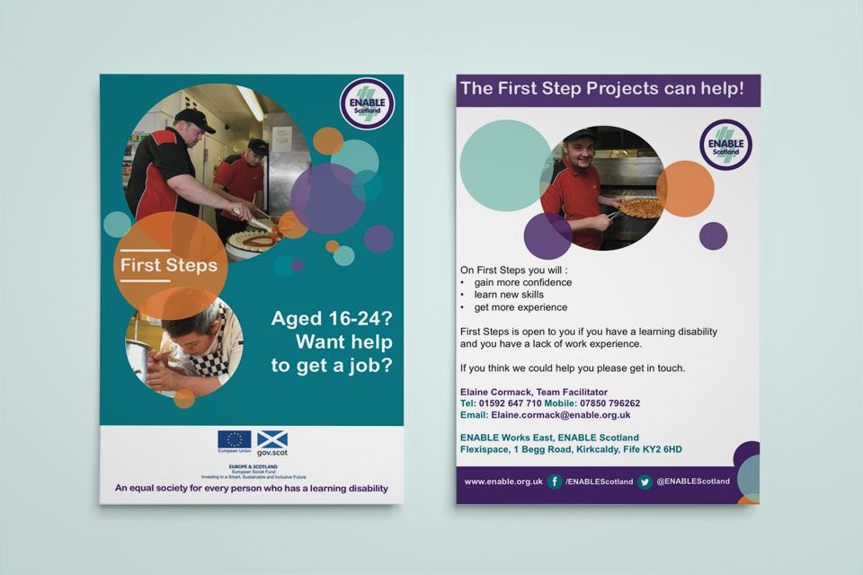 Enable Works Kirkcaldy  Flyer Or Leaflet Design For Enable Works