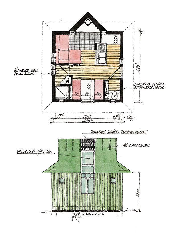 LES-CABANES construction de cabane, matériaux, plans, législation - plan maisonnette en bois