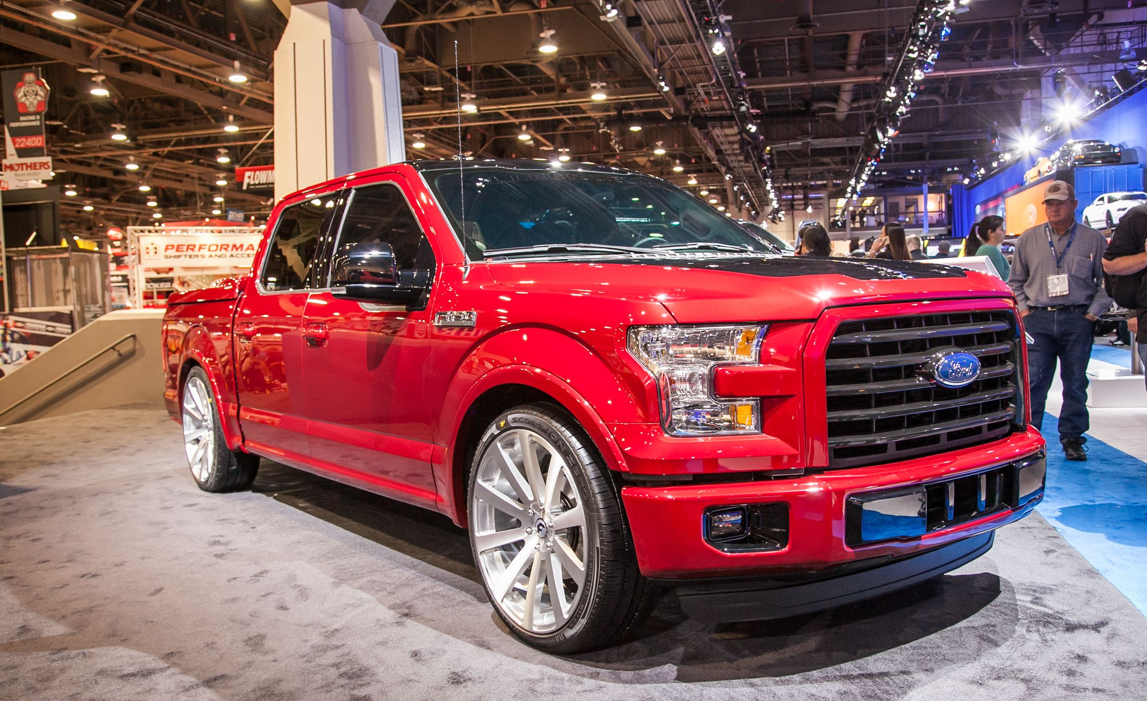 Ford brought a gaggle of tricked out 2015 f 150 pickups to the 2014