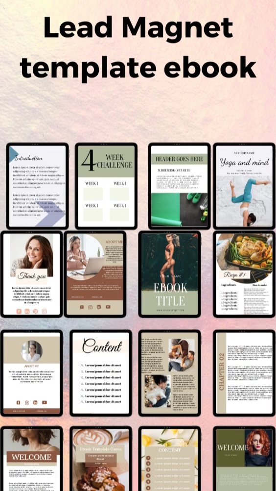 Workbook ebook template canva for professional bus