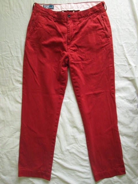 afb9221d61d0 Polo by Ralph Lauren Mens Red Cotton Pants Trousers Tag Size 34 32 Used by  ForgottenTreasuresEU on Etsy  RalphLauren  ChinoPants  RedPants