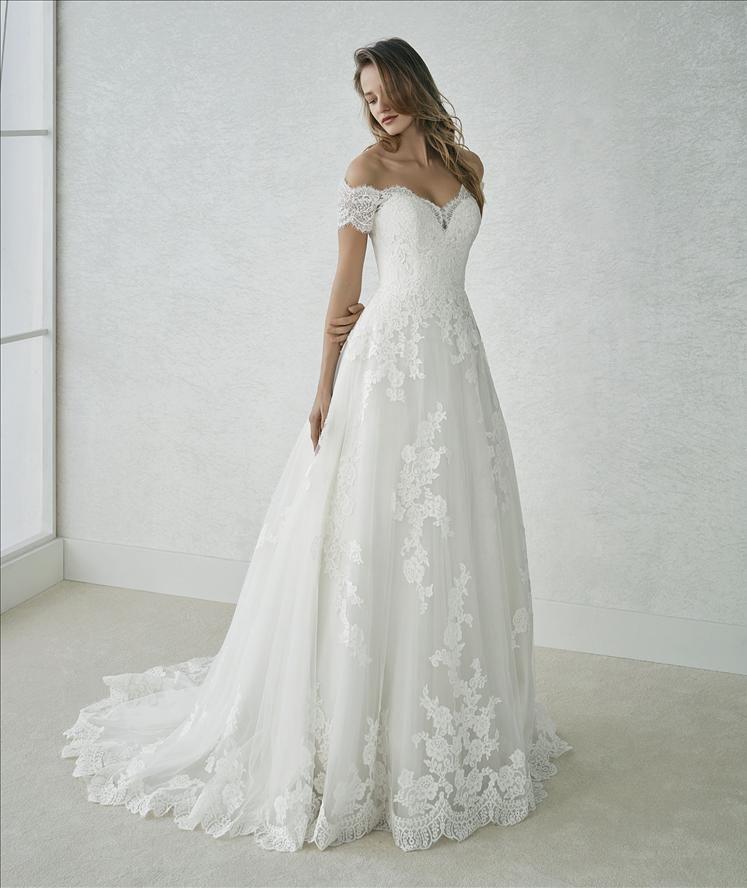 vestido fabiana colección white one 2018. precio:1490. descuento en