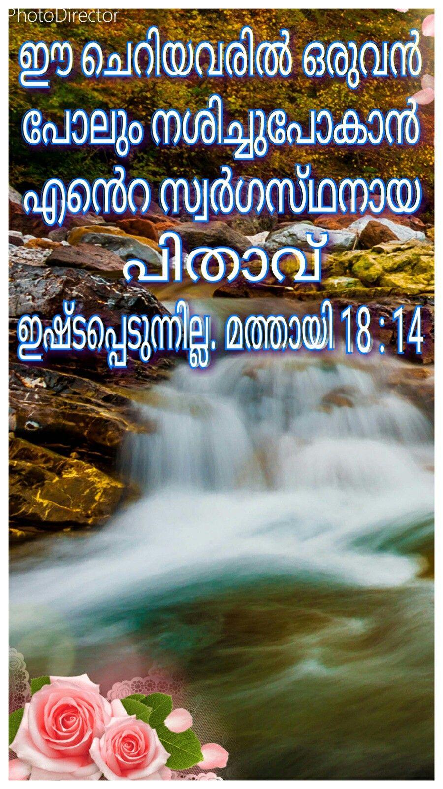 Malayalam Bible Versesmathew 1814 Soni Paul Bible Quotes