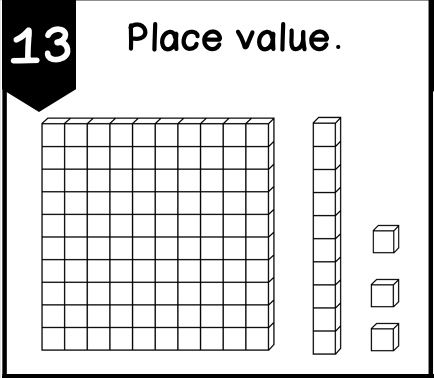 Place value task cards/ 2nd grade and 3rd grade place