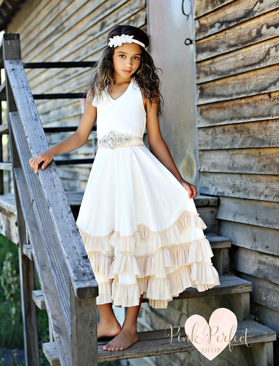 ff89a278c63 Beach flower girl dress