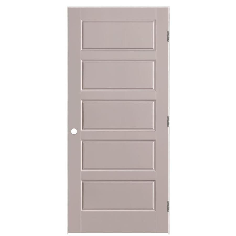 Masonite Riverside 36 In X 80 In Driftwood 5 Panel Equal Solid Core Prefinished Molded Composite Right Hand Inswing Single Prehung Interior Door Lowes Com In 2020 Prehung Interior Doors Doors Interior Masonite