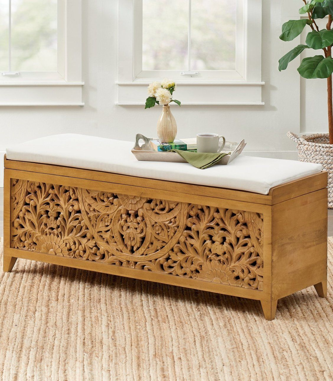 Marisol Storage Bench Cushion In 2020 Storage Bench Indoor Furniture Wood Storage Bench