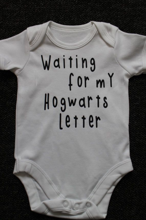e39aae665e5 Harry Potter waiting for my Hogwarts Letter Baby Vest