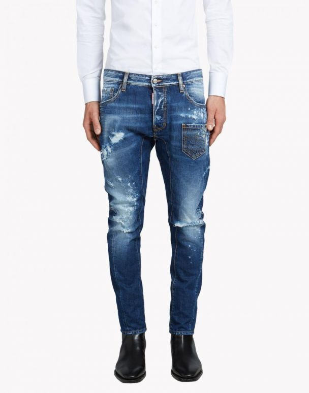 Biker distressed jeans - Blue Dsquared2 Free Shipping Pictures For Nice Cheap Price Buy Cheap Marketable XRiInzMufV