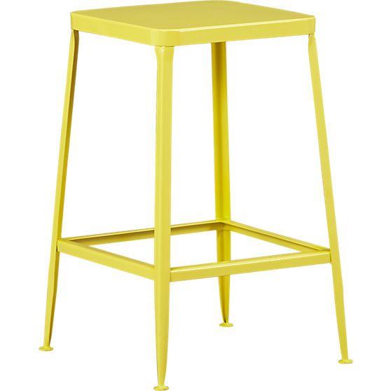 flint yellow 24 bar stool in dining chairs bar stools cb2 rh pinterest com