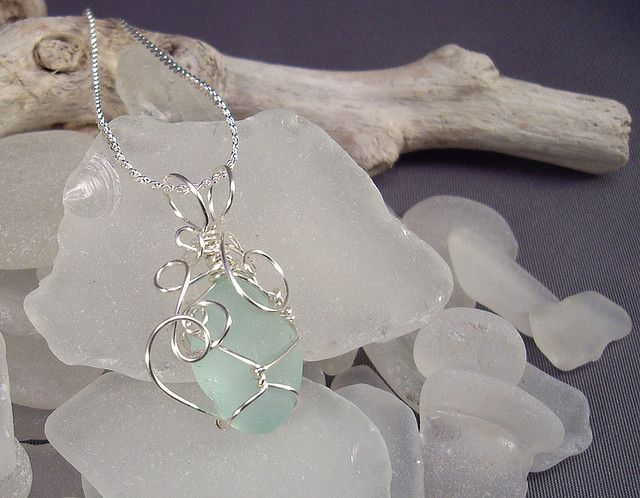 Beach Glass Pendant An Design And Glasses