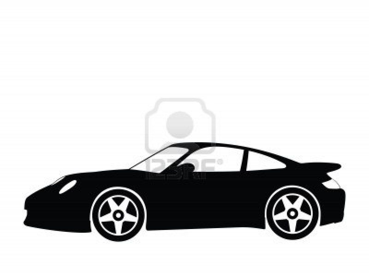 Stock Illustration Silhouette Car