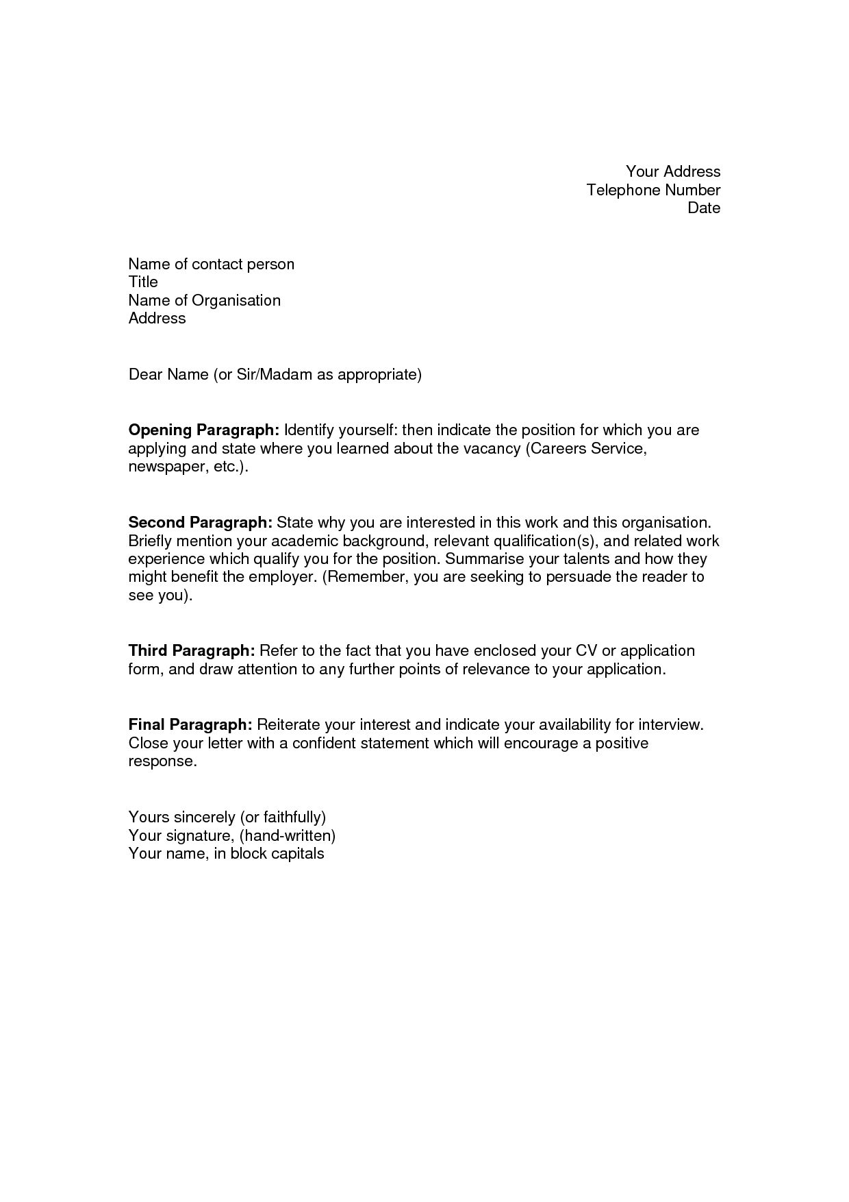25 Writing A Good Cover Letter Job Application Cover Letter
