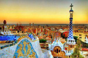 barcelona_parc_guell_sunset