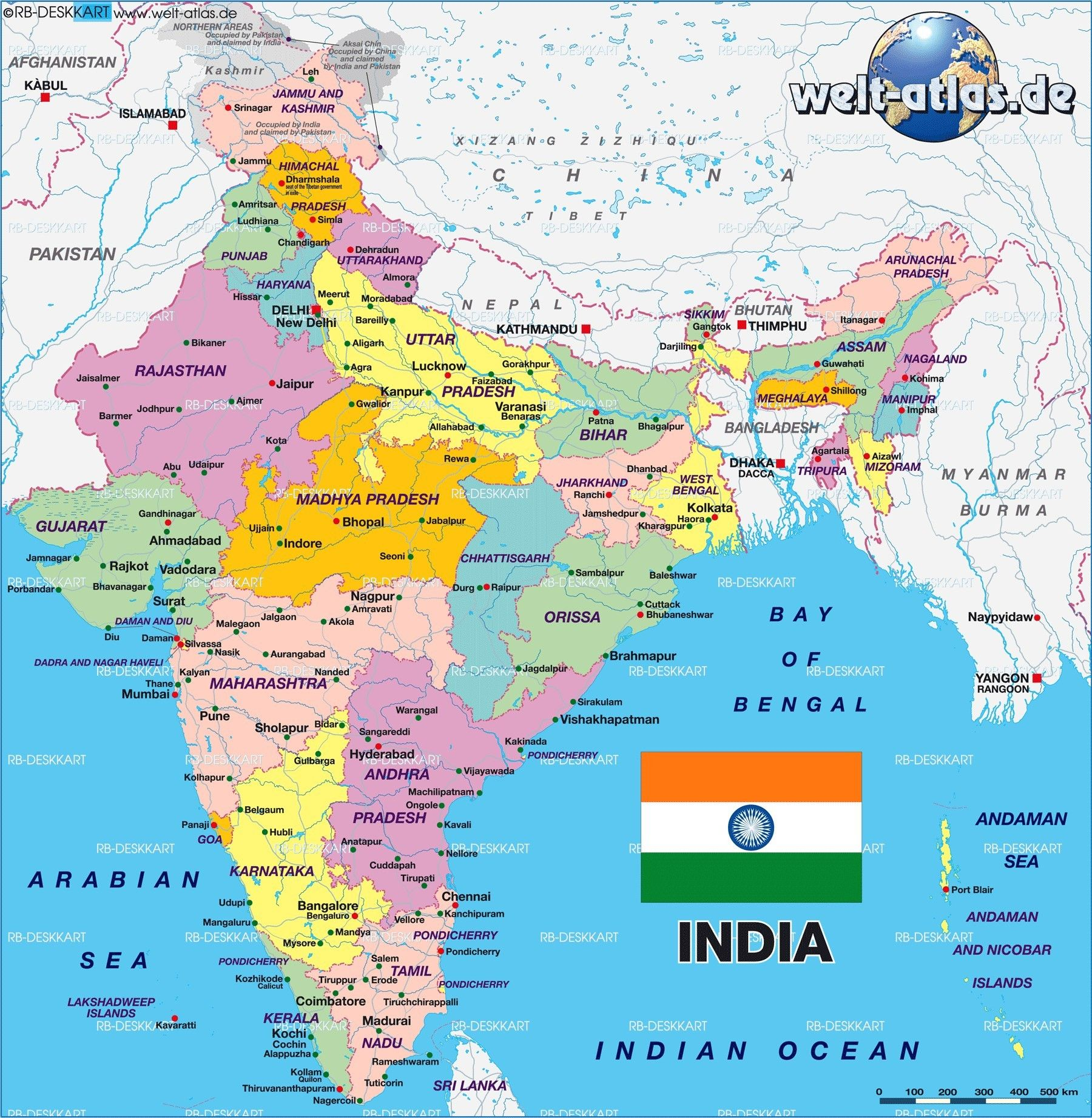 Hd India Map